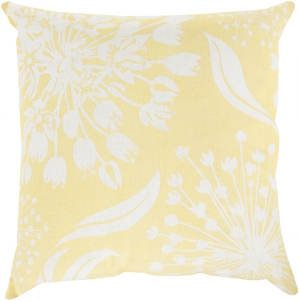 Allium Butter Ivory Poly Fabric Throw Pillow (L 20 X W 20) KSL001-2020P