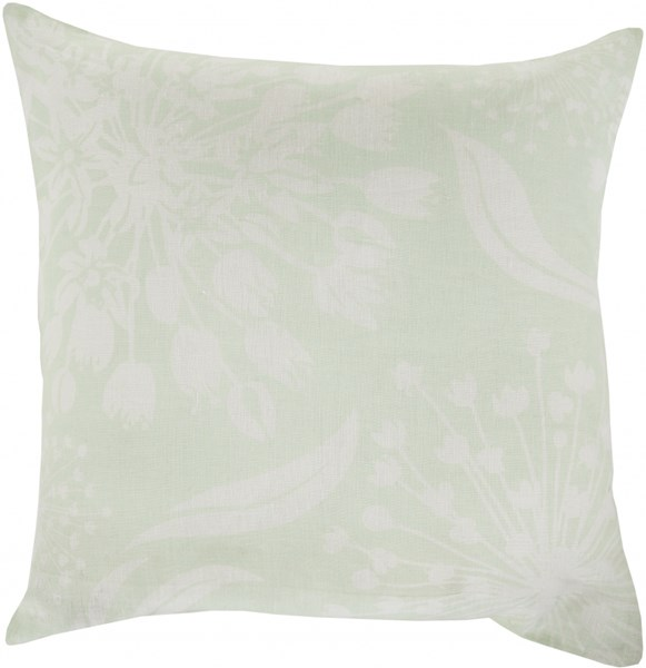 Allium Mint Ivory Down Fabric Throw Pillow (L 22 X W 22 X H 5) KSL002-2222D