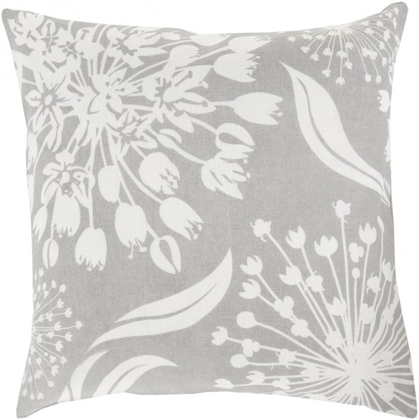 Allium Ivory Olive Poly Fabric Throw Pillow (L 22 X W 22 X H 5) KSL004-2222P