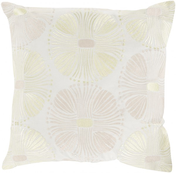 Multi Burst Ivory Beige Gold Poly Cotton Throw Pillow (L 20 X W 20) KSM006-2020P