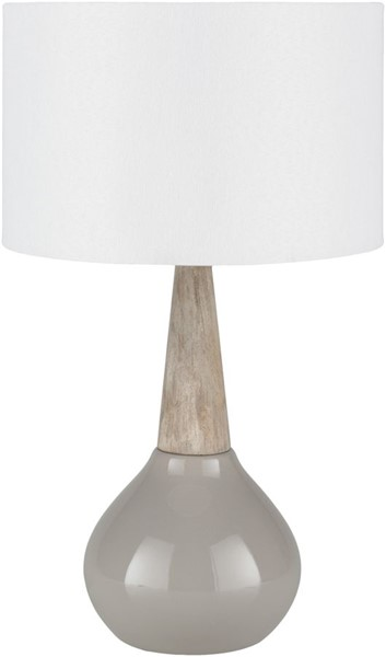 Surya Kent Medium Gray Ceramic Table Lamp - 11x18.75 KTLP-003