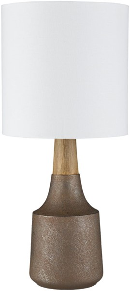 Surya Kent Camel Linen Table Lamp - 8x17.50 KTLP-009