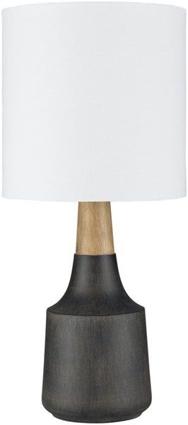 Surya Kent Black Linen Table Lamp - 8x17.50 KTLP-010
