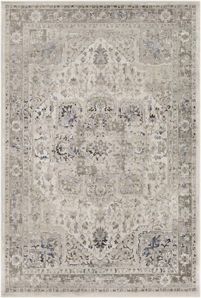 Surya Kaitlyn Ivory Light Gray Dark Brown Polypropylene Area Rug - 90x63 KTN1027-5376