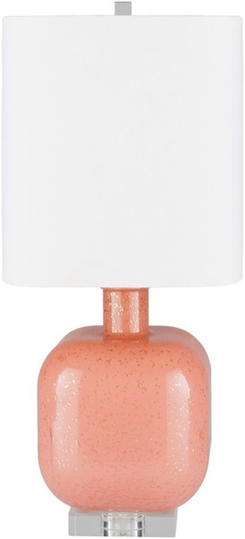 Surya Kitt Bright Orange Glass Table Lamp - 10x23 KTT-002