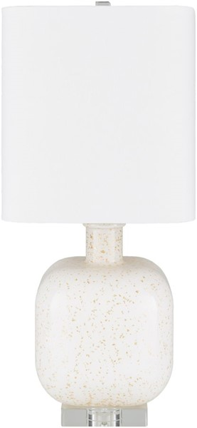 Surya Kitt Cream Glass Table Lamp - 10x23 KTT-003