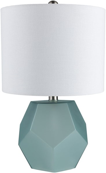 Surya Kelsey Sky Blue Glass Table Lamp - 11x17 KYS-002