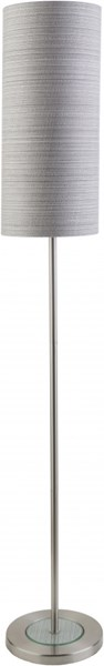 Kyoto Contemporary Brushed Nickel Gray Metal Polyester Floor Lamps 13880-VAR1