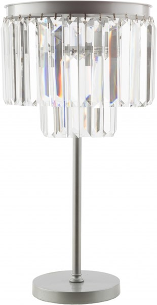 Luana Brushed Silver Iron Crystal Table Lamp - 14.5x28.75 LAA100-TBL