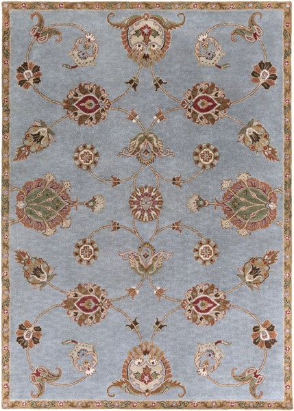 Langley Navy Gold Rust Wool Area Rug - 96 x 132 LAG1003-811