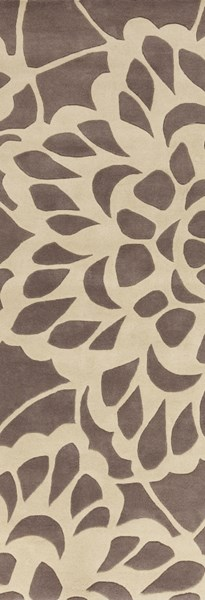 Lace Contemporary Gray Fabric Floral Hand Tufted Runner LCE908-268