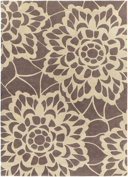 Lace Contemporary Gray Fabric Hand Tufted Area Rug LCE908-811
