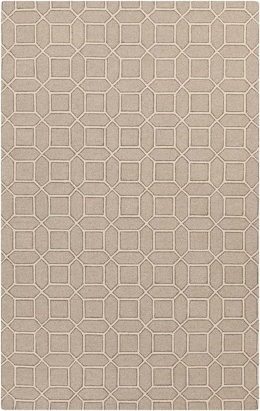 Lucka Beige Ivory Olive Wool Area Rug (L 90 X W 60) LCK2000-576