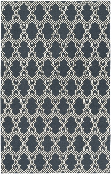 Lucka Contemporary Navy Ivory Wool Area Rug (L 90 X W 60) LCK2032-576