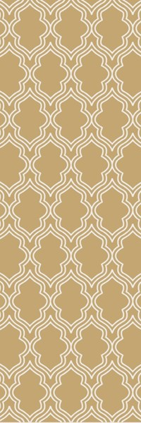 Lucka Contemporary Gold Ivory Wool Runner (L 96 X W 30) LCK2034-268