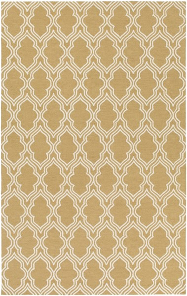 Lucka Contemporary Gold Ivory Wool Area Rug (L 90 X W 60) LCK2034-576