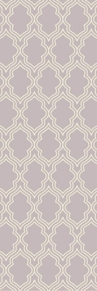 Lucka Contemporary Lavender Ivory Wool Runner (L 96 X W 30) LCK2035-268