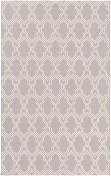 Lucka Contemporary Lavender Ivory Wool Area Rug (L 90 X W 60) LCK2035-576