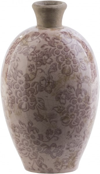 Leclair Cottage/Country Taupe Olive Ceramic Table Vase LCL606-M