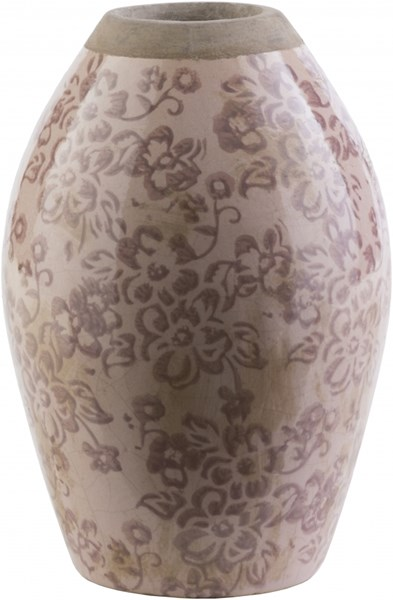 Leclair Taupe Olive Ceramic Bud Table Vase LCL608-S