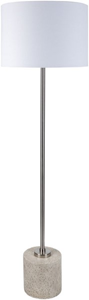 Surya Ledger White Metal Floor Lamp - 18x62 LED-002