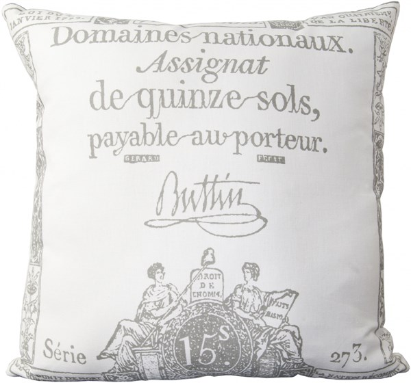 Montpellier Ivory Charcoal Gray Cotton Pillows MONTPELLIER-DCR-BNDL