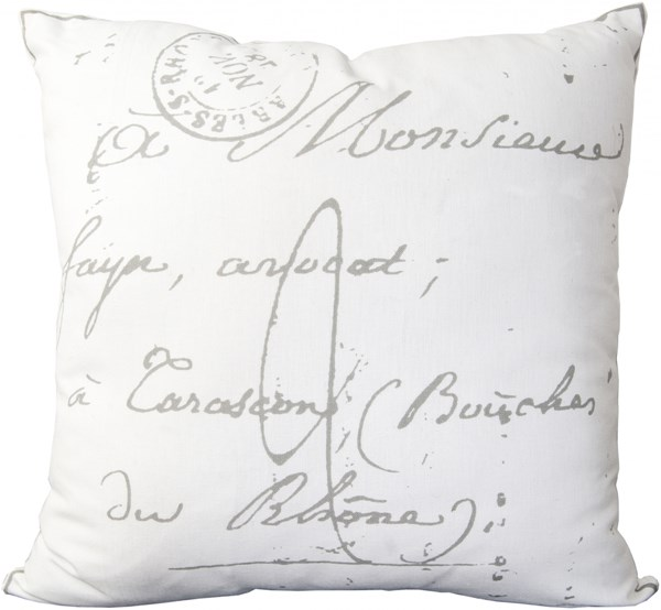 Montpellier Charcoal Poly Cotton Throw Pillow (L 18 X W 18 X H 4) LG512-1818P