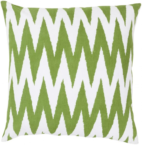 Vibe Ivory Lime Poly Cotton Throw Pillow - 22x22x5 LG524-2222P