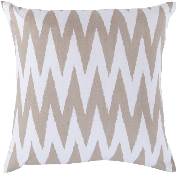 Vibe Ivory Olive Poly Cotton Throw Pillow - 18x18x4 LG527-1818P