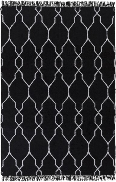 Lagoon Contemporary Charcoal Ivory PET Yarn Geometric Area Rug LGO2007-58