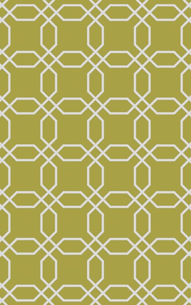 Lagoon Contemporary Lime Ivory PET Yarn Geometric Area Rug LGO2014-58