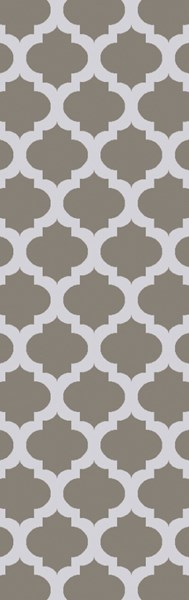 Lagoon Contemporary Light Gray Ivory PET Yarn Geometric Runner LGO2021-268