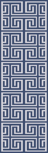 Lagoon Contemporary Navy Ivory PET Yarn Hand Woven Runners 12830-VAR1