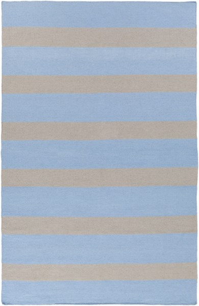 Lagoon Contemporary Sky Blue Light Gray PET Yarn Area Rug LGO2039-58