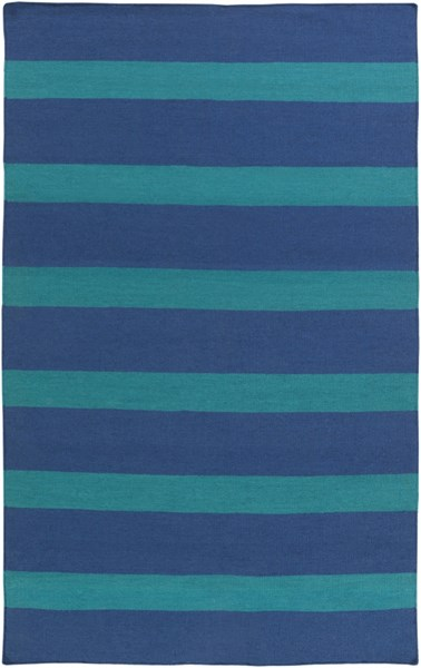 Lagoon Contemporary Navy Teal PET Yarn Area Rug LGO2040-58