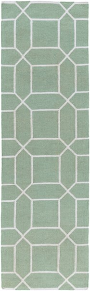 Lagoon Contemporary Sea Foam Ivory PET Yarn Hand Woven Runner LGO2045-268