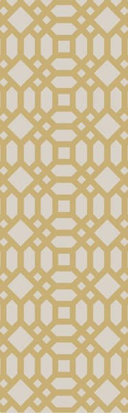 Lagoon Contemporary Gold Ivory PET Yarn Runner (L 96 X W 30) LGO2070-268