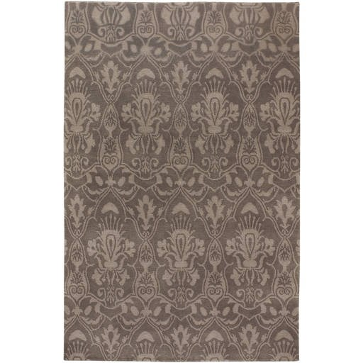 Lhotse Traditional Mushroom Hand Knotted Wool Area Rug LHO3205-VAR