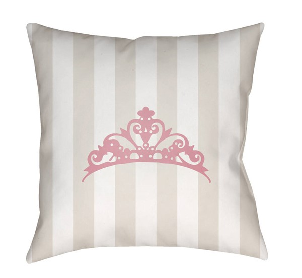 Surya Crown Beige Pink Pillow Cover - 20x20 LIL023-2020
