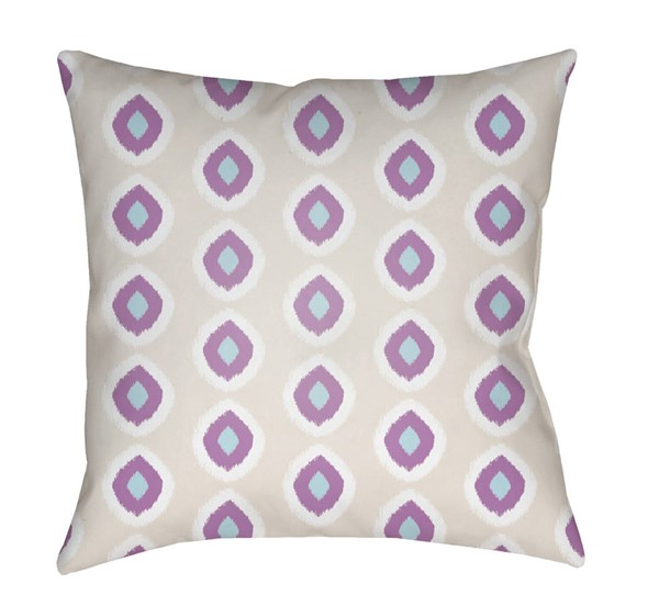 Surya Circles Beige Purple Pillow Cover - 18x18 LIL037-1818
