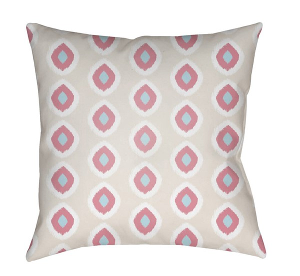 Surya Circles Beige Pink Pillow Cover - 18x18 LIL038-1818