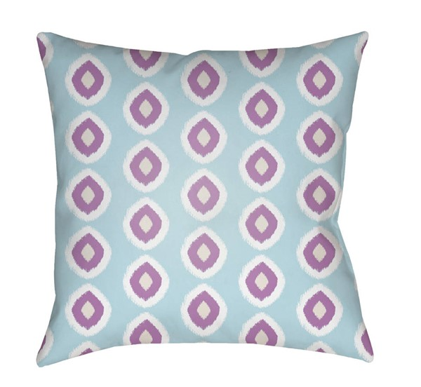 Surya Circles Sky Blue Purple Pillow Cover - 18x18 LIL040-1818