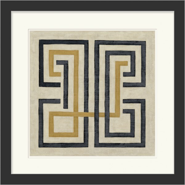 Surya Wall Decor Blue Yellow Tan Geometric Wall Art (W 29 X H 29) LJ4054-2929