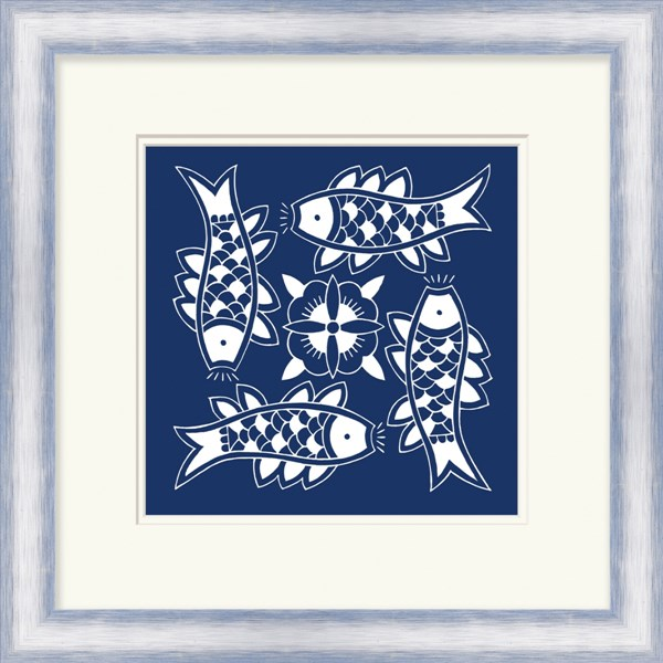 Surya Wall Decor Blue White Impeccable Wall Art (W 21 X H 21) LJ4160-2121