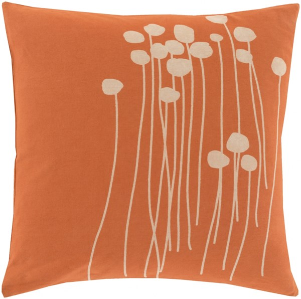Abo Contemporary Coral Beige Teal Cotton Throw Pillows 13396-VAR1