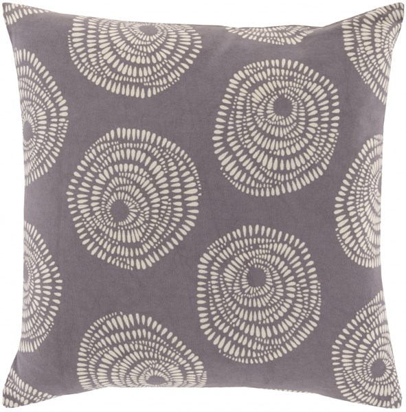 Sylloda Contemporary Charcoal Ivory Fabric Throw Pillows 13398-VAR1