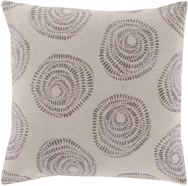 Sylloda Light Gray Charcoal Poly Cotton Throw Pillow - 20x20x5 LJS004-2020P
