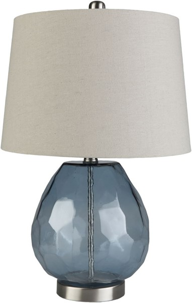 Surya Larkspur Ivory Glass Table Lamp - 14x21.88 LKR-002
