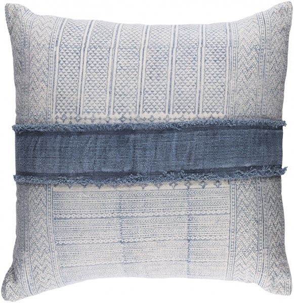 Lola Pillow With Down Fill In Ivory Slate Navy (L 30 X W 30 X H 5) LL003-3030D