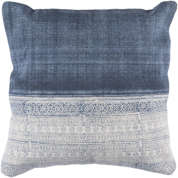 Lola Pillow With Poly Fill In Ivory Slate Navy (L 20 X W 20 X H 5) LL004-2020P